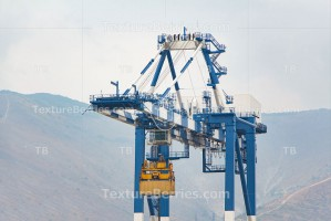 Big harbor crane