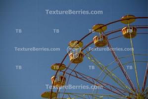 Closeup of wonder wheel in an amusement park