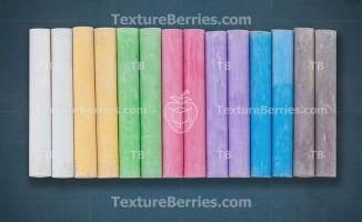 Colored chalk on chalkboard