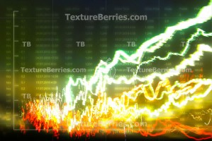 Finance data concept. Abstract glow graph, business growth