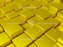 Golden cubes background, golden boxes, 3D rendering
