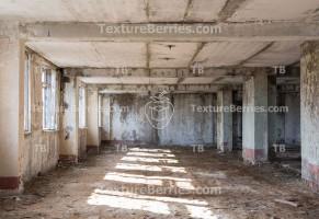 Inside abandoned building, after war concept