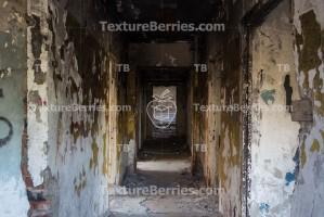 Inside abandoned building, corridor
