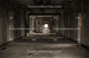 Inside abandoned factory, ruins