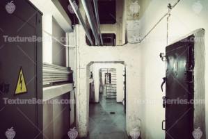 Long corridor in the old bunker