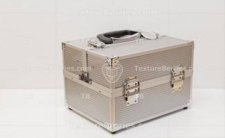 Modern metal box on white background