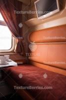 Railroad modern speed train interior, first class