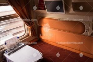 Railroad modern train interior, business class