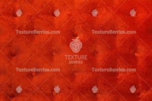 Red velvet capitone textile background, diamond pattern decoration with buttons