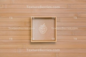 Square box on bamboo, top view