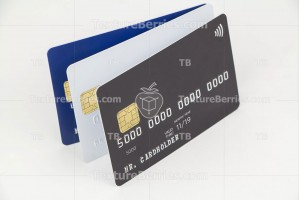 Three credit card as template for your design