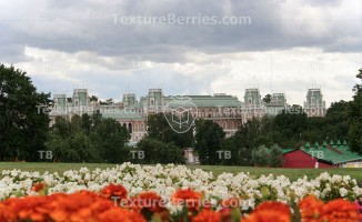 Tsaritsyno park in Moscow, view of the Grand palace