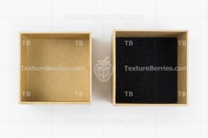 Two square cardboard boxes isolated on white