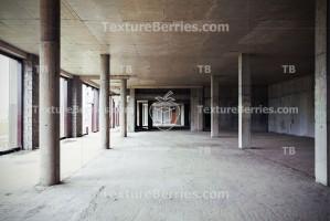 Unfinished concrete building
