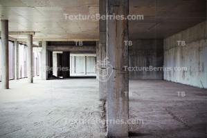 Unfinished concrete empty shop