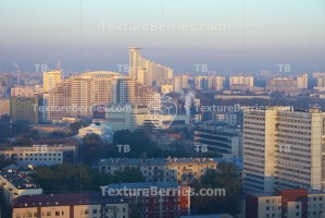 View of Moscow city, Russia, at morning