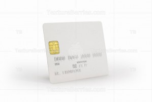 White credit card with shadow, template for branding, clipping path