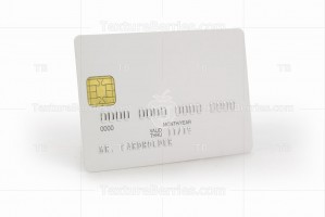 White credit card with shadow, template for branding with clipping path