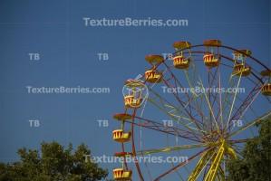 Wonder wheel in an amusement park, leisure concept