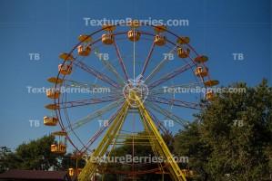 Wonder wheel in an amusement park