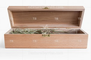 Wooden gift box for wine